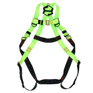 Full Body Safety Harness Fall Protection 3d ring Back Support Belt Green