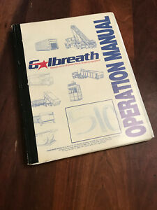 Galbreath Tandem Cable Roll Off Hoist Operation Service Manual