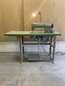 Consew Model 215 Industrial Sewing Machine fully Operational With Good Motor