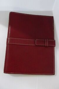 Day timer Red 7 Ring Faux Leather Planner Binder With Pockets 9 5 X 7 5