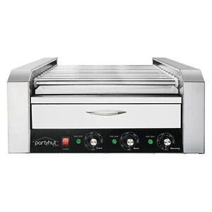 Commercial Hot Dog Machine 11 Roller And 30 Hotdog Grill Cooker With Bun Warmer