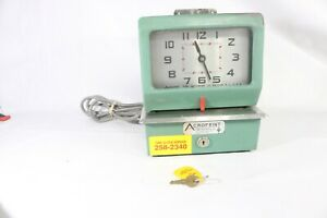 Acroprint Time Recorder Clock Manual Punch Industrial Office Vintage