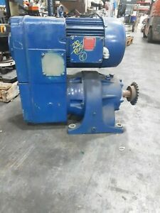 3hp Us Motor With Gearbox 230 460v 3 Ph 15 182t 2 Frame 11 0 Amps 4js