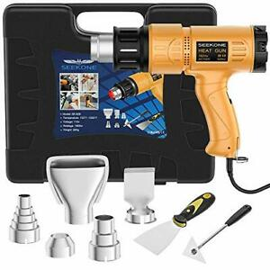 Heat Gun Kit 1800w carry Case variable Temperature Control Overload Protection