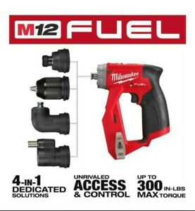 New Milwaukee M12 Fuel Installation Drill driver 4 in 1 Attachments Bag 2505 20