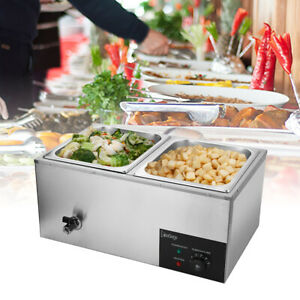 600w 10 6qt 2pan Buffet Steam Table Food Warmer Restaurant Commercial 30 85c Us