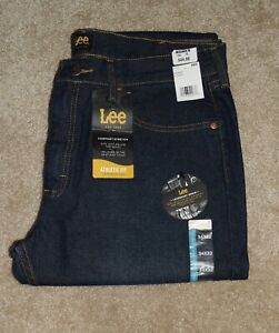 New Mens Lee Jeans 34 X 32 Athletic Fit Tapered Leg Stretch Denim $27.99