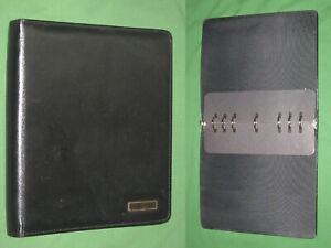 Folio 1 0 Black Leather Day Timer Planner 8 5x11 Monarch Franklin Covey 324
