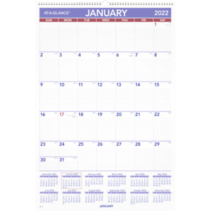 At a glance Monthly Wall Calendar 20 X 30 January To December 2022 Pm428