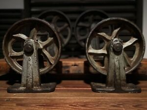 Set Of 4 Vintage 8 Stationary Industrial Factory Cart Truck Casters