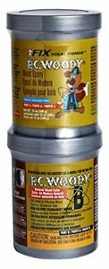 Pc Products Pc woody Wood Repair Epoxy Paste Two part 12 Oz In Two Cans Tan