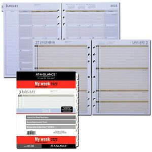 2022 At a glance 491 285 Weekly Planner Refill Day timer 93010 Size 5 8 5 X 11