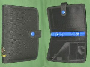 Portable 0 75 Black Blue Nylon Day Timer Planner Binder Compact Franklin Covey