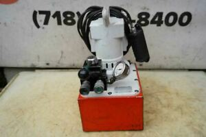 Spx Power Team Electric Hydraulic Pump Double Acting Pe 553 10 000 Psi 120v Nice