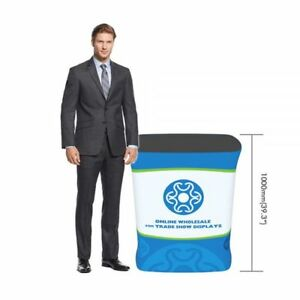 Rectangle Fabric Tension Counter Trade Show Booth Counter Display Case