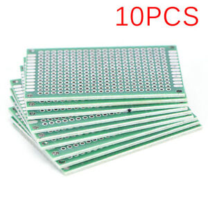 10pcs Double Side 4x6cm Pcb Strip Board Printed Circuit Prototype Track_s_aa