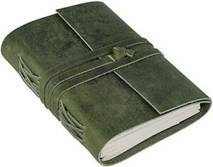 Leather Journal Lining Paper Pages leather Handmade Bound Writing Notebook 5x7