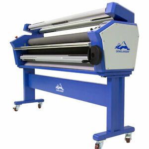 Us Stock Qomoalngma 63in Full auto Wide Format Cold Laminator With Heat Assisted