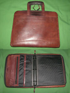 8 5x11 1 25 Brown Leather Scully Planner Binder Franklin Covey Monarch 9666