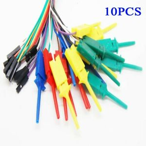 10 test Hook Clip For Logic Analyser Dupont Female cable Arduino Raspberry Pi