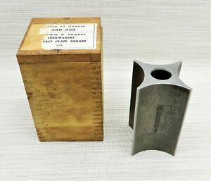 Brown Sharpe 559 Toolmakers Surface Plate Square With Wood Dovetail Box Usa