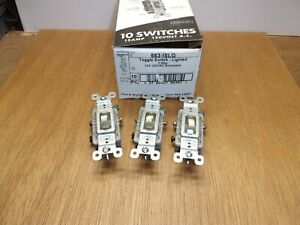 qty 3 Pass Seymour Ivory Lighted 3 way Toggle Switch 15a 120v Grounded