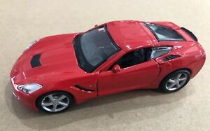 143 Scale 2014 Chevy Corvette Stingray C7 Coupe Diecast Model Toy Maisto Red