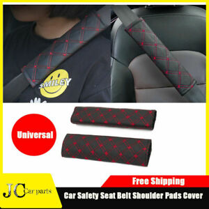 Auto Safety Seat Belt Shoulder Pads Cover Set Cushion Harness Comfortable Pad