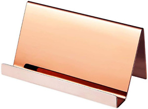 Stainless Steel Business Card Holder metal Business Cards Stand Desktop Name Car