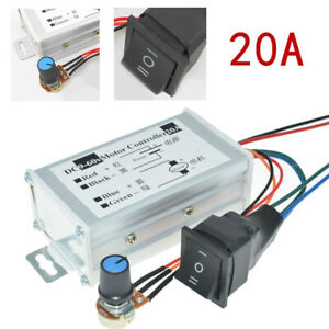 9 60v 12 36v 20a Pwm Dc Motor Variable Speed Controller Ccw Reversible Switch Us
