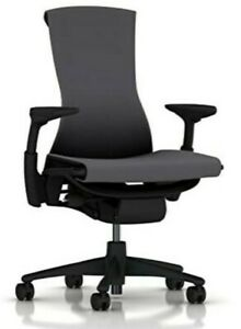 New Embody Office Desk Chair by Herman Miller Charcoal Grey Rhythm Fabric