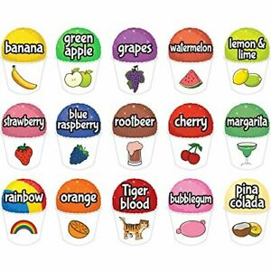 15 Snowcone Set 12 Concession Decal Sign Cart Trailer Stand Sticker Equipment