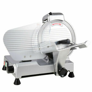 10 Blade 240w Commercial Electric Meat Slicer Deli Machine Cuts Cheese Food