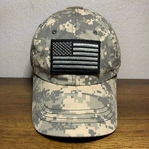 Condor Tactical Camo Cap Hat With American Flag and Molon Labe Patches $14.99