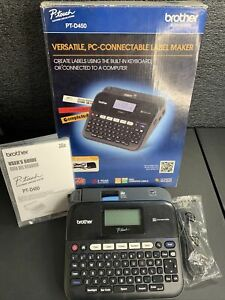 Brother P touch Pt d450 Versatile Pc connectable Label Maker Black No Ac Adapter