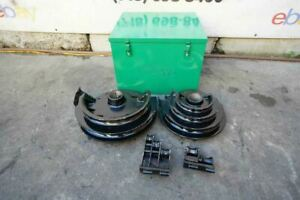 Current Conduit Pvc Coated Shoes For Greenlee 555 Bender Set 1 2 To 2 Inch