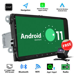 Cam 9 Android 11 Auto Car Play Radio Gps Stereo For Vw Passat B6 B7 Cc Rcd360
