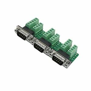 Db9 Breakout Connectormale D sub Adapter Plate Connector Rs232 Serial To Term