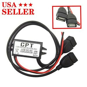Waterproof Dc dc Converter 12v Step Down To 5v Usb Power Supply Module 3a 15w us
