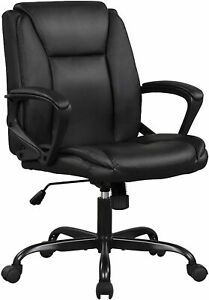Rolling Swivel Computer Desk Chair With Pu Leather Big And Tall Executive Chair