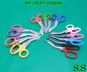 Lot Of 6 Ems Utility Shears 5 50 Surgical Instruments