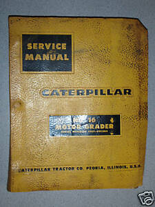Caterpillar Cat No 16 Motor Grader Service Manual