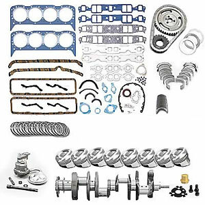383ci Small Block Chevy Parts Kit Diy W Flat top Coated Pistons Parts Kit