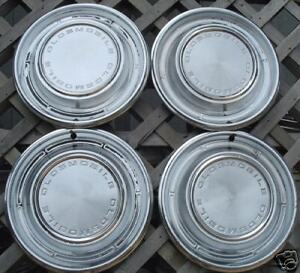 1968 Olds Oldsmobile F85 Cutlass Hubcaps Wheel Covers