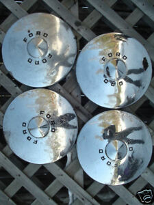 1949 49 1950 50 Ford Dog Dish Hubcaps Wheel Covers Wheels Center Caps