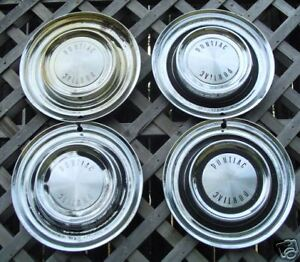 Antique Vintage Classic 1958 58 Pontiac Hubcaps Wheel Covers Center Caps