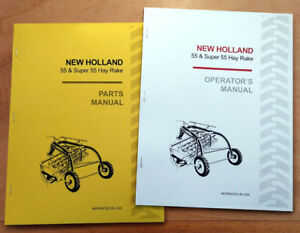 New Holland 55 Super Hay Rake Operator s And Parts Manual Catalog Book Sperry Nh