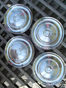 1957 57 Dodge Lancer Hubcaps Wheel Covers Center Caps