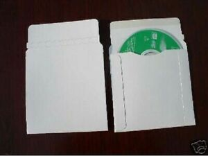200 New White 5 Cardboard Cd Dvd Mailers W seal Js93