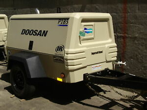 2006 Ingersoll rand P185 Cfm Air Compressor 185cfm Towable Doosan W hammers hose
